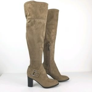 Marc Fisher Tan Christyna Over The Knee Boot